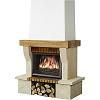 Habillage cheminee en pierre chinvest usine dargemont ninon poutre chene 1